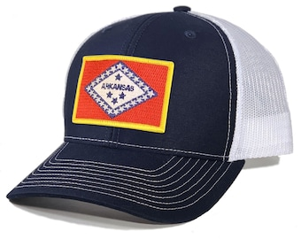 Homeland Tees Arkansas Flag Patch Trucker Hat
