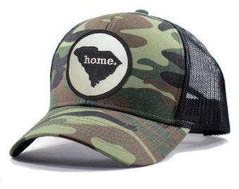 Homeland Tees South Carolina Home Army Camo Trucker Hat