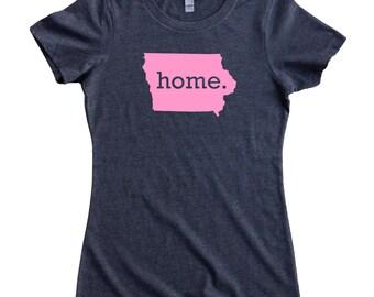Iowa Home State T-Shirt Women's Tee PINK EDITION - Sizes S-XXL