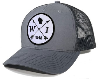 Homeland Tees Wisconsin Arrow Patch Trucker Hat