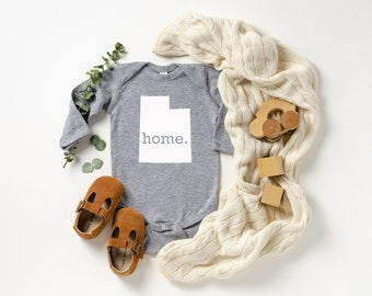 Homeland Tees Utah Home Unisex Long Sleeve Baby Bodysuit