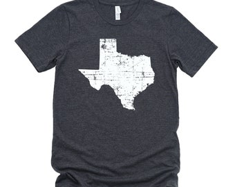 Homeland Tees Texas State Vintage Look Distressed Unisex T-shirt