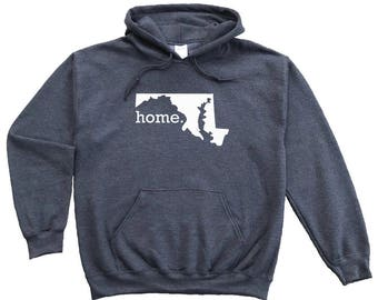 Homeland Tees Maryland Home Pullover Hoodie Sweatshirt