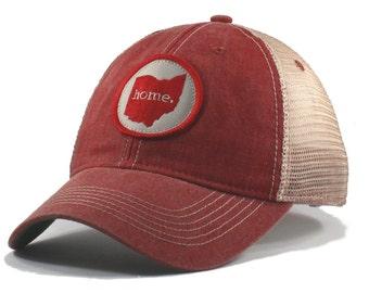 Homeland Tees Ohio Home Trucker Hat - Vintage Red