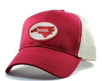 Homeland Tees North Carolina Home Trucker Hat - Red Patch