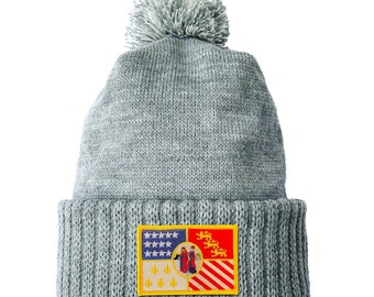 Homeland Tees Detroit Flag Patch Cuff Beanie