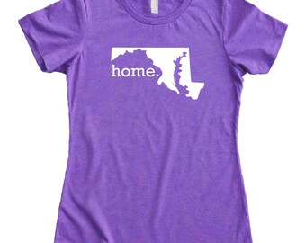 Homeland Tees Maryland Home State Women's T-Shirt
