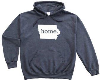 Homeland Tees Iowa Home Pullover Hoodie Sweatshirt