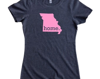 Missouri Home State T-Shirt Women's Tee PINK EDITION - Sizes S-XXL