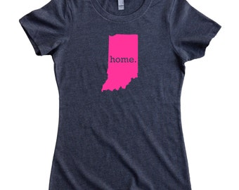 Indiana Home State T-Shirt Women's Tee PINK EDITION - Sizes S-XXL