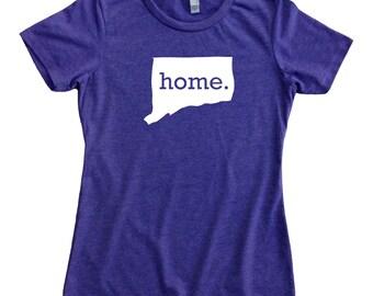 Homeland Tees Connecticut Home State Women's T-Shirt