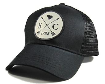 Homeland Tees South Carolina Arrow Hat - All Black Trucker