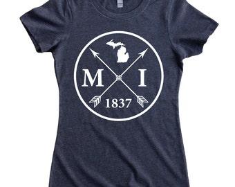 Homeland Tees Michigan Arrow Women's T-Shirt