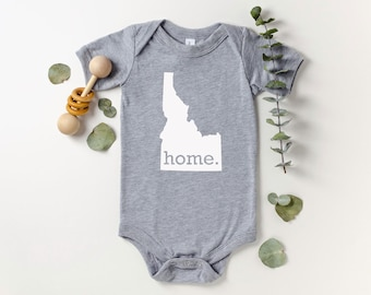 Homeland Tees Idaho Home Bodysuit Coming Home Outfit Shower Gift Newborn Baby Boy Girl