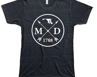 Homeland Tees Men's Maryland Arrow T-Shirt