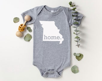 Homeland Tees Missouri Home Bodysuit Baby Boy Girl Newborn Coming Home Outfit Shower Gift