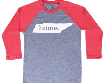 Homeland Tees Tennessee Home Tri-Blend Raglan Baseball Shirt