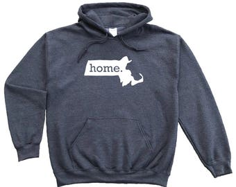 Homeland Tees Massachusetts Home Pullover Hoodie Sweatshirt