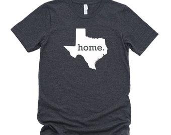 Homeland Tees Texas Home State T-Shirt - Unisex