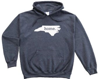 Homeland Tees North Carolina Home Pullover Hoodie Sweatshirt