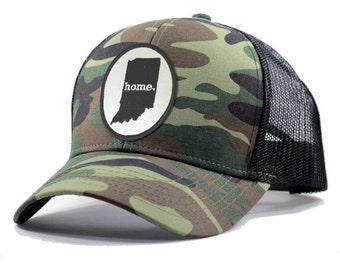 Homeland Tees Indiana Home Army Camo Trucker Hat
