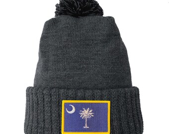 Homeland Tees South Carolina Flag Patch Cuff Beanie