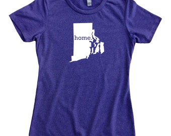 Homeland Tees Rhode Island Home State Women's T-Shirt