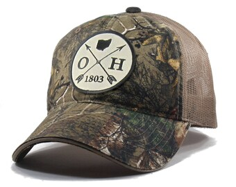 Homeland Tees Ohio Arrow Hat - Realtree Camo Trucker