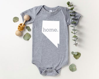 Homeland Tees Nevada Home Bodysuit Coming Home Outfit Shower Gift Newborn Baby Boy Girl