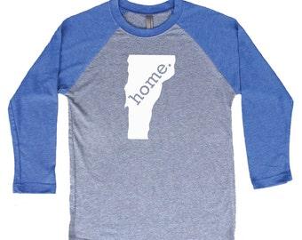 Homeland Tees Vermont Home Tri-Blend Raglan Baseball Shirt
