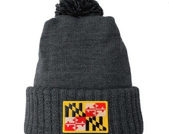 Homeland Tees Maryland Flag Patch Cuff Beanie