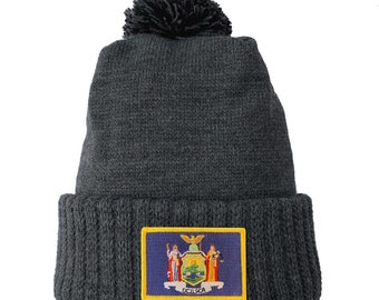 Homeland Tees New York Flag Patch Cuff Beanie