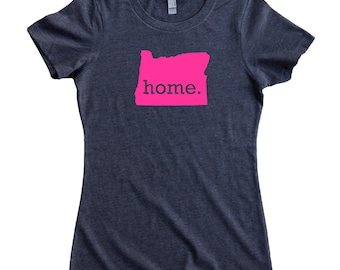 Oregon Home State T-Shirt Women's Tee PINK EDITION - Sizes S-XXL