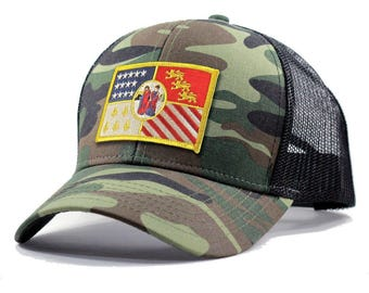 Homeland Tees Detroit Flag Hat - Army Camo Trucker