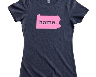 Pennsylvania Home State T-Shirt Women's Tee PINK EDITION - Sizes S-XXL