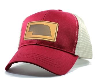Homeland Tees Nebraska Leather Patch Hat - Trucker