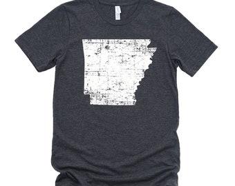 Homeland Tees Arkansas State Vintage Look Distressed Unisex T-shirt