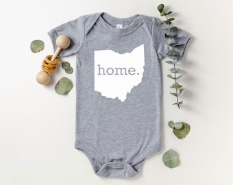 Homeland Tees Ohio Home Bodysuit Coming Home Outfit Shower Gift Newborn Baby Boy Girl