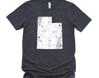 Homeland Tees Utah State Vintage Look Distressed Unisex T-shirt