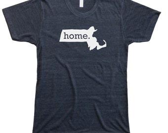 Homeland Tees Men's Massachusetts Home T-Shirt