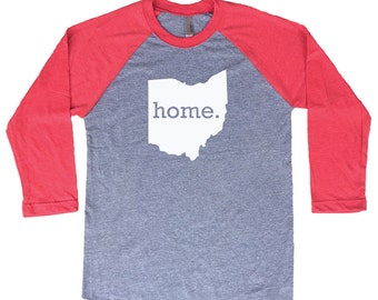 Homeland Tees Ohio Home Tri-Blend Raglan Baseball Shirt