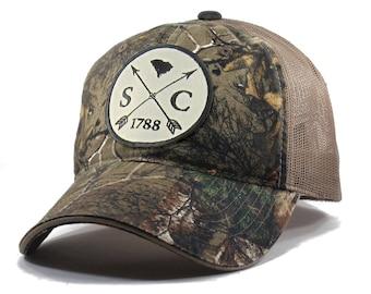 Homeland Tees South Carolina Arrow Hat - Realtree Camo Trucker