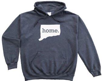 Homeland Tees Connecticut Home Pullover Hoodie Sweatshirt