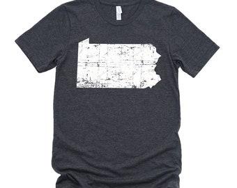 Homeland Tees Pennsylvania State Vintage Look Distressed Unisex T-shirt