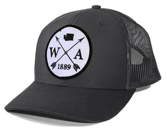 Homeland Tees Washington Arrow Patch Trucker Hat