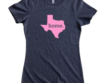 Texas Home State T-Shirt Women's Tee PINK EDITION - Sizes S-XXL