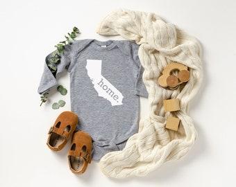 Homeland Tees California Home Unisex Long Sleeve Baby Bodysuit