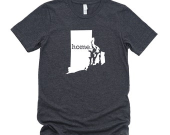 Homeland Tees Rhode Island Home State T-Shirt - Unisex