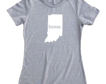 Homeland Tees Indiana Home State Women's T-Shirt