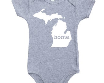 Homeland Tees Michigan Home Unisex Baby Bodysuit